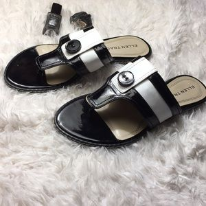 Ellen Tracy Black and White Selina Sandals size 7